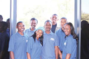 Business Intelligence Africa field workers ready for work