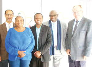 The newly appointed Biosafety Council members are from the left, Dr Ronnie A Bock, Dr Martha Kandawa-Schulz, Mr Etuna Josua, Mr Teofilus M Nghitila, and Dr Herbert Schneider.