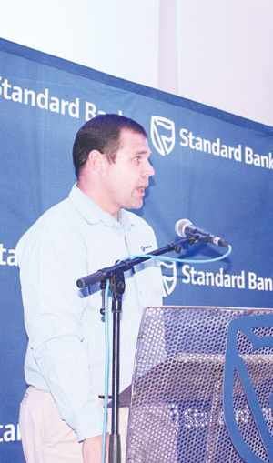 New Business Manager Eugene Junius at Standard Bank Namibia's Vehicle and Asset Finance Department