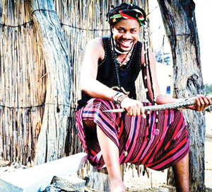Jacques Mushaanja, the Bantu Chanting Warrior aims to heal and transform his audiences through his art.
