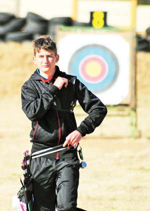 Destined for greatness, junior recurve Archer Xander Reddig ready for the up coming  Junior Olympics in August