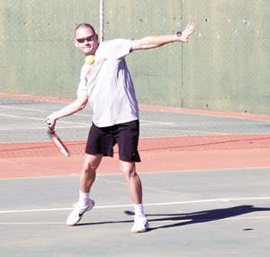 Carlo van Rooi in action, kept his composure to claim his second win in a row after he had claimed his first ever tournament victory three weeks ago.