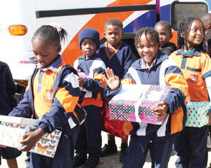 The amazing tots of Amazing Kids Private School and Academy visited the mothers in the maternity ward at the Katutura State Hospital with gifts and lots of goodwill.