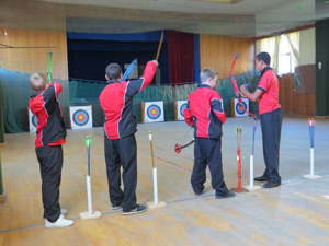 Aim for the bulls eye: part of the kids that will go toe to toe this weekend to try and book a spot at the All Stars event to be held in South Africa.