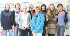 DHPS Day of Kindness coordinators are from the left, Jana Hecht (intern), Katja Gerber, Nicole Beck, Jutta Pfeifer, Monika Kollmitz, Tanya Beyer, Nicole Moormann and Tahnee Horenburg (project coordinator).