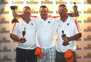 Ernie Els protégés: First placed The Logiman team of M Archer, A Jamieson and P Moult took top honours overall at the Dundee Precious Metals Tsumeb 5th Annual Golf Fun Day.