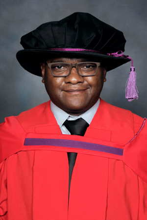 To date, Namibia's only Doctor of Biomedical Technology, Dr Christoph Hikuam.
