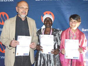 Fancois de Necker, Rauna Mukwiilongo and Sarie Maritz were honoured by the judges with Lifetime Achievement recommendations.
