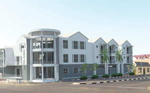 The Gondwana Collection is expanding its tourism circle which focuses mostly on lodges, now also to include boutique hotels with this development in Swakopmund. This image is a 3-D rendering by the architect, Sven-Eric Staby.