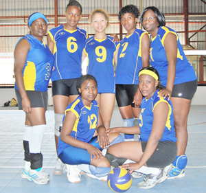 The ladies from Revivals Volleyball Club (RVC) won their match against UNAM in last weekend's matches of the Bank Windhoek National Volleyball League.