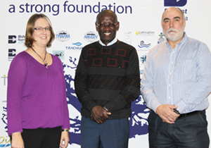 Theresa Weitz, Financial Director, Bidvest Namibia Ltd; Sebby Kankondi, CEO Bidvest Namibia Ltd, and Jan Arnold, Managing Director Bidvest Namibia Fisheries Holdings. (Photograph by Natasha Drotsky)