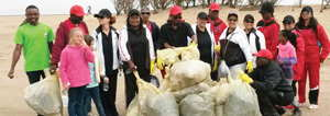 Walvis Bay learners and their teachers helped to clean the shoreline inland of the lagoon during the annual beach clean-up which took place last weekend.