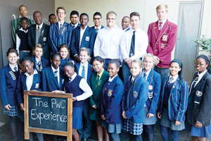 The PwC experience: The top Grade 11 achievers in Mathematics and Accounting, from schools all over the country that participated in a business simulation game during PwC Namibia's 3 day collaborative experience.