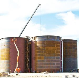 B2Gold had in February installed four tanks at its Otjikoto project