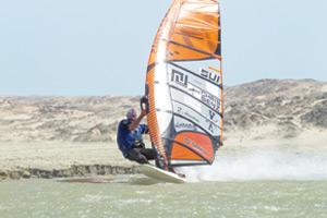Surfs on: Windsurfers taking on the waters in Lüderitz where a number of records were broken