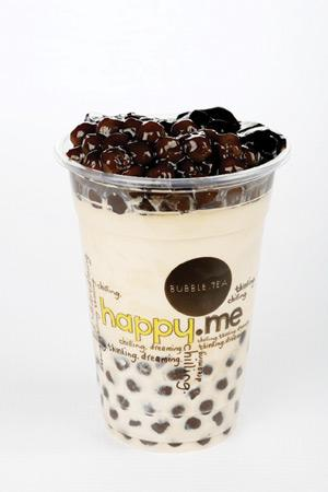 Happy.Me coffee tapioca. An incredible combination creates an exhilarating beverage. Many similar unconventional combos are part of the Happy.Me entertainment offering.