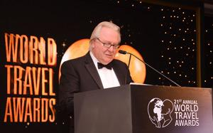 Graham Cooke, President & Founder, World Travel Awards at the awards where Hilton Windhoek was recognised as Namibia's Leading Hotel.