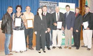 The top ten Swakara producers were honoured last week by the Karakul Board of Namibia at the annual Swakara Industry Forum in Keetmanshoop.