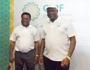 Launching the revamped GIPF identity, Board Chairman Mihe Gaomab II and CEO David Nuyoma stand side by side as they prepare to usher the GIPF to new heights.
