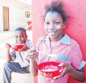 Children at Otjomuise Project School can now focus on learning, knowing that they receive at least one good meal a day from Kentucky's Add Hope project.