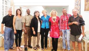 Respected international cheetah expert, Dr Laurie Marker (fourth from left) has been elected the new chairperson of the Large Carnivore Management Association of Namibia. She was captured, together with her colleagues at a recent presentation by Dr Fabiano Ezequiel at the Namibian Scientific Society.