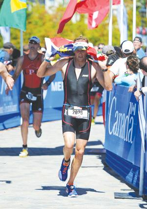 Tyron Kotze, the local favourite for the FNB Desert Triathlon, happening on Sunday in Swakopmund, representing Namibia in the 70.3 World Champs in Canada earlier this year.