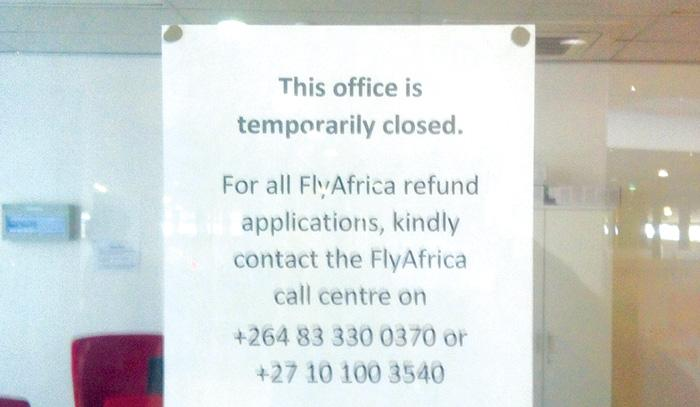 FlyAfrica fly no more