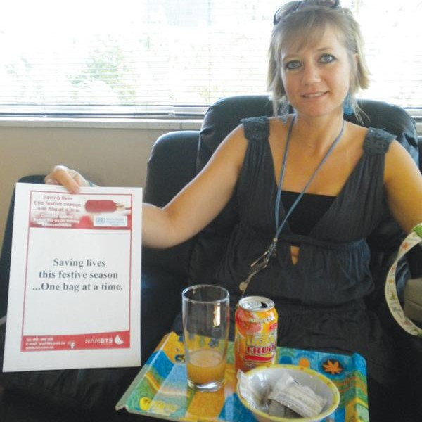 Mirja Sasse started donating blood in October 2012, she recently donated for the 14th time at our Tal Street Centre.