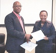 The Service Level Agreement between Namport and Transnet Maritime School of Excellence in Durban was signed by Dr Felix Musukubili, Executive Human Resources and Ms N Sishi, Group Human Resources on behalf of Transnet.