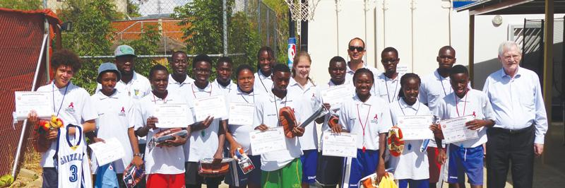 Train them young: Participants from the Khomas and Ohangwena regions respectively between 15 and 22 years old were trained as Junior Coaches.