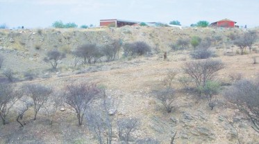 Total removal of vegetation behind Elim School Khomasdal. Erosion will take place with heavy rain.