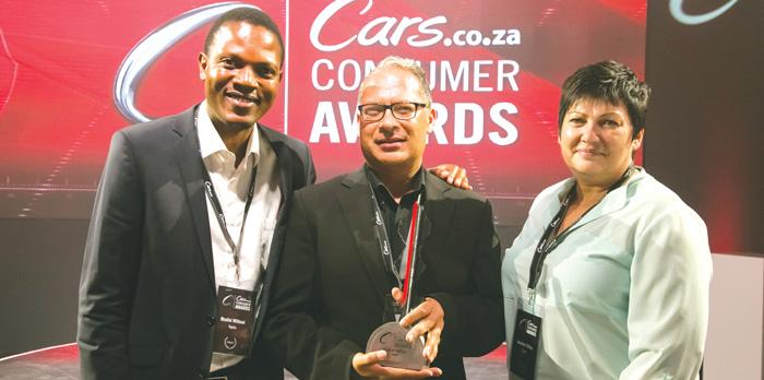 Toyota's team receives accolades at the inaugural Cars.co.za Consumer Awards held earlier last week.