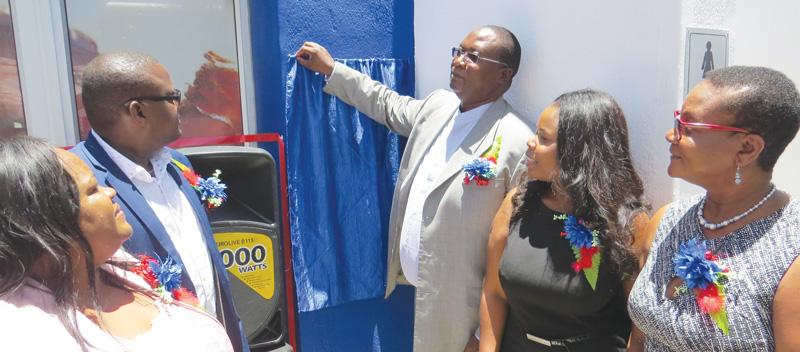 Owner of Engen One Stop Usakos, Irene Simeon-Kurtz, Deputy Minister of National Planning Commission, Lucia Iipumba, reappointed Governor of the Erongo Region, Cleophas Mutjivikua.