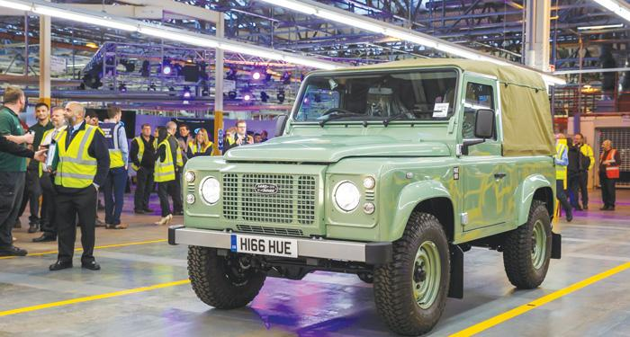 The Defender Celebration in Solihull saw more than 25 unique vehicles from Land Rover's history come together in a procession around the Solihull plant, featuring the final current Defender vehicle off the line
