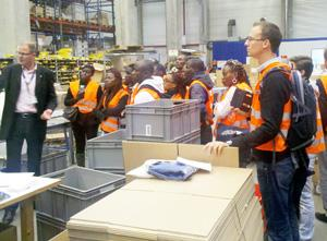 Logistics professionals visiting a warehouse recently in Germany