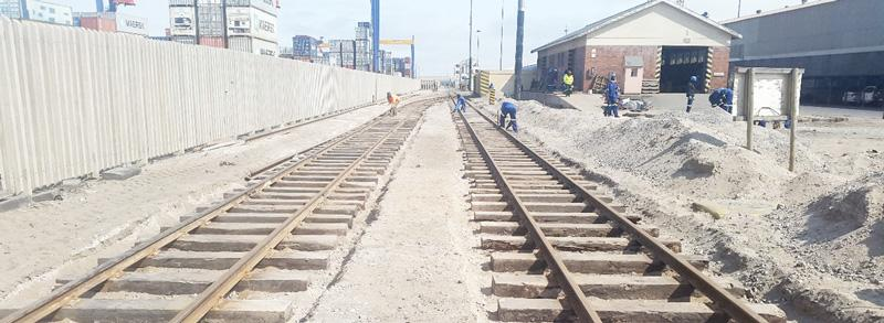 Phase 1 of port railway upgrade completed