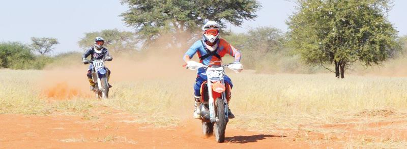 Enduro riders tackle the Kalahari