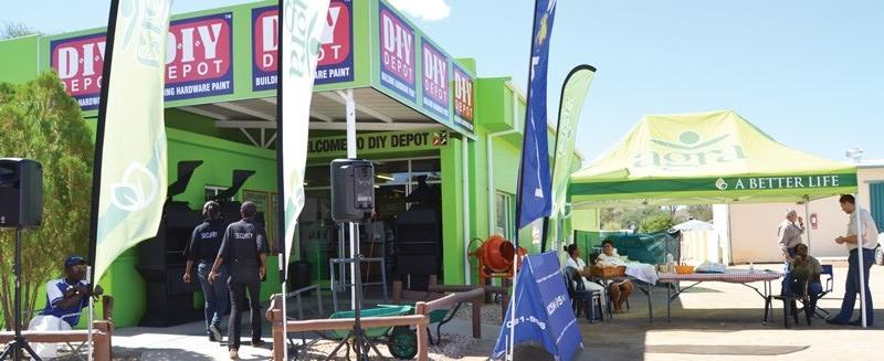 Agra's first stand-alone DIY Depot opened last week in Okahandja. The DIY Depot, a well-established hardware, building and paint franchise stocks a large variety of products for contractors; small builders, home renovators; property developers and Do-It-Yourself enthusiasts. It is located across the street from Agra's Okahandja branch