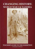The cover of the Teachers' Handbook shows Abraham Morris who had been employed as a scout during the South African invasion in 1914. Morris was killed in 1922 leading the Bondelswarts resistance to colonial rule.