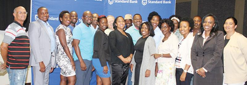 Seventeen owners of small and medium enterprises converged in Windhoek last week to attend a two-day training session offered by Standard Bank. The training teaches participants the principles of small business management and financial control.