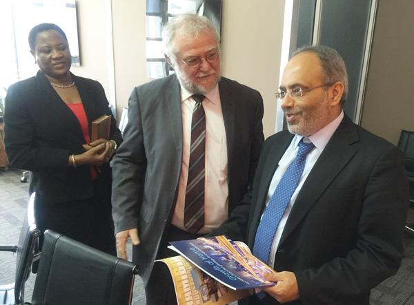 Schlettwein pays courtesy call
