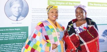 The origin of the colourful traditional Nama dresses for women, is one of the topics portrayed at the exhibition in Keetmanshoop. The background research was done by the Museums Association.