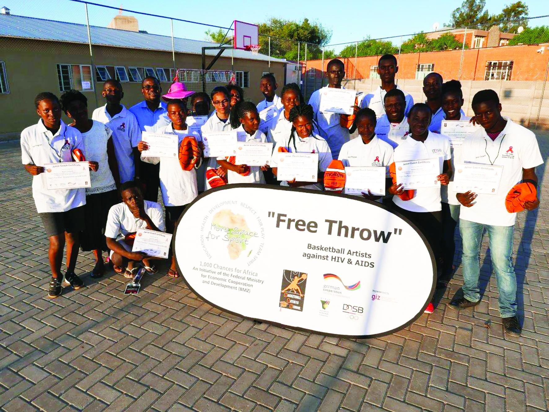 Basketball Junior Coaches trained