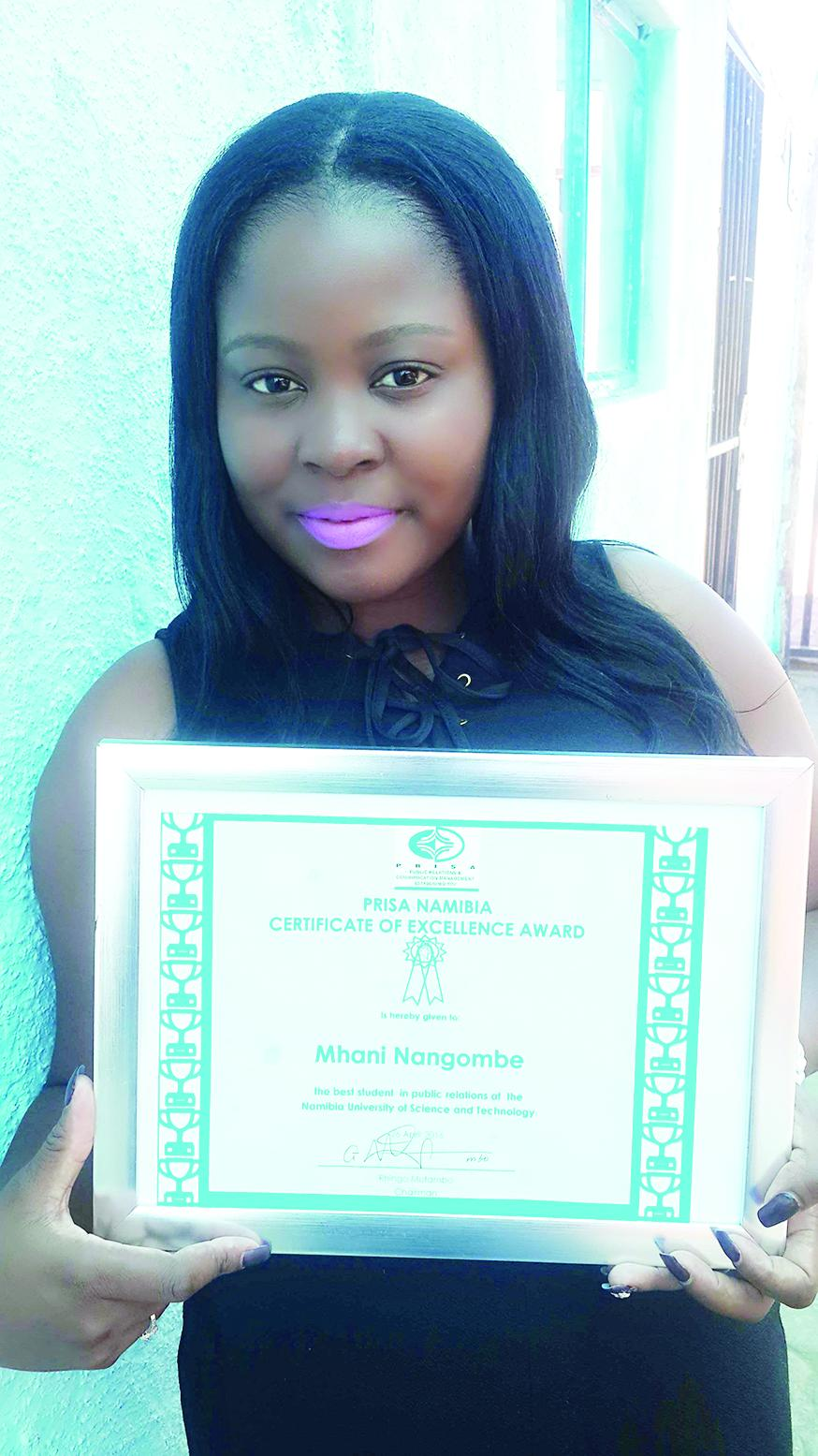 NUST student receives Certificate of Excellence