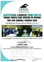 The 6th Annual Katutura Career Fair, to be held at the Habitat Research Centre on 3 June 2016,organised by the Young Achievers Empowerment Project.