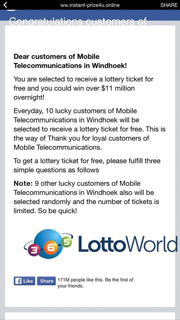 MTC warns clients of new scam offering free lottery tickets