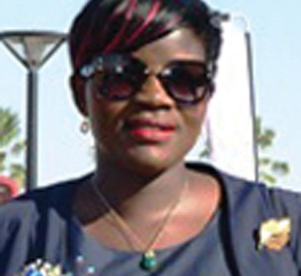 Chairperson of the Namibia Airports Company, Mrs Ndeuhala Lewis.