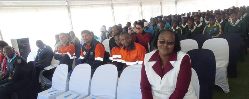 A very large audience of Tsumeb learners attended the opening of the COSDEC career fair this week in Tsumeb.