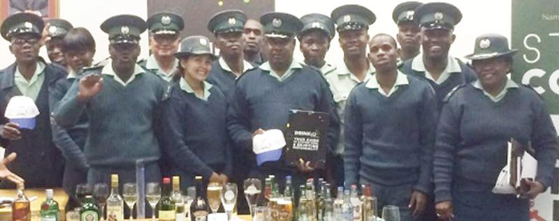 Andreas Ambambi conducting the most recently held DRINKiQ training session in Okahandja. The Ministry of Safety and Security:  Correctional Services attended DRINKiQ sessions last week to strengthen their IQ on alcohol and the effects of alcohol abuse.