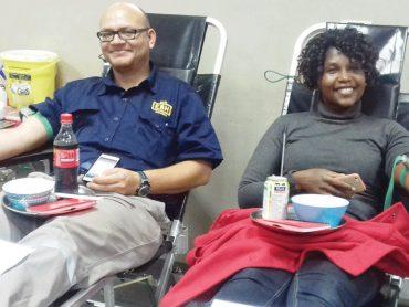 Drydocks double as blood clinics